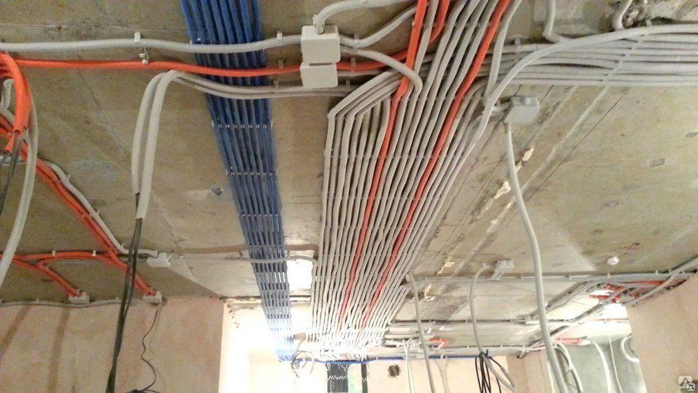 Проводка в квартире по потолку от щитка