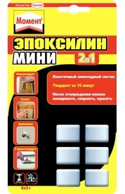 Клей монтажный Двухкомпонентный эпоксидный клей Момент Эпоксилин Мини 2в1, на блист. 6*5г Крепика дом крепежных материалов