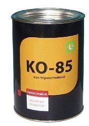 Лаки Лак термостойкий до 250град. КО-85, 0,8 кг Крепика дом крепежных материалов