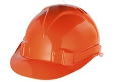 Каска строительная Каска защитная из ударопрочной пласт.,оранжевая Крепика дом крепежных материалов