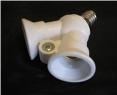 Патрон для ламп Электропатрон Е14 разветвитель на 2 патрона Е14 Крепика дом крепежных материалов