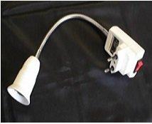 Патрон для ламп Электропатрон Е27 на гибкой гофре длина 30см+вилка с клавишей Крепика дом крепежных материалов